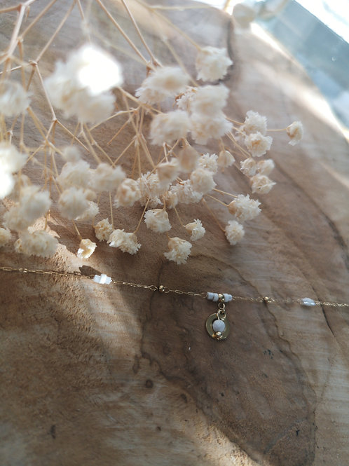 Bracelet fin blanc