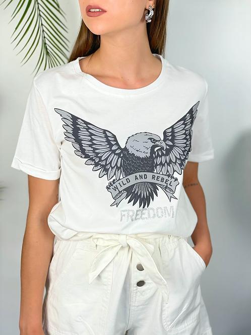 Tee-shirt Freedom blanc