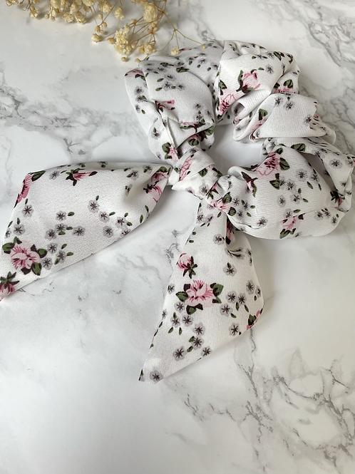 Chouchou ruban fleuri