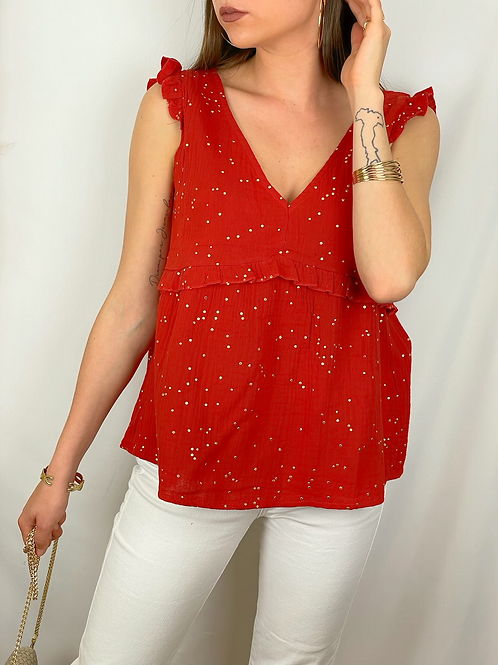 Blouse Madeline rouille