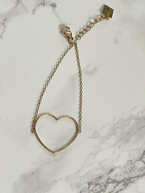 Bracelet petit coeur doré