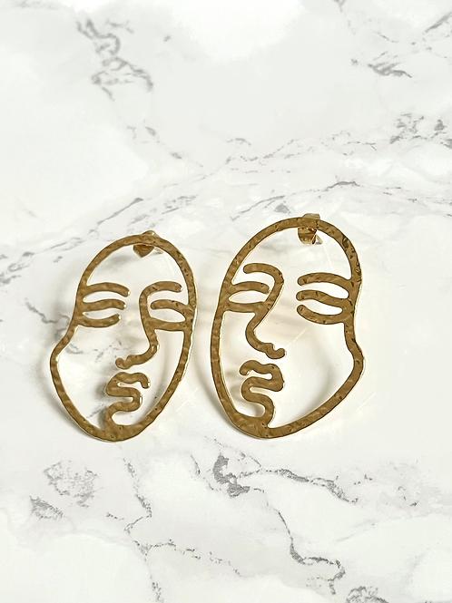 Boucles d'oreilles Lice dorées