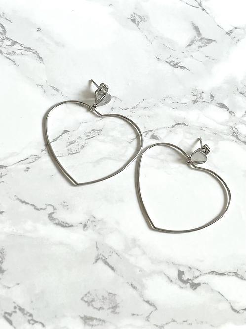Boucles d'oreilles Amote argentées