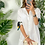 Thumbnail: Robe Léa en Lin Gris, Beige, Blanc, Rose