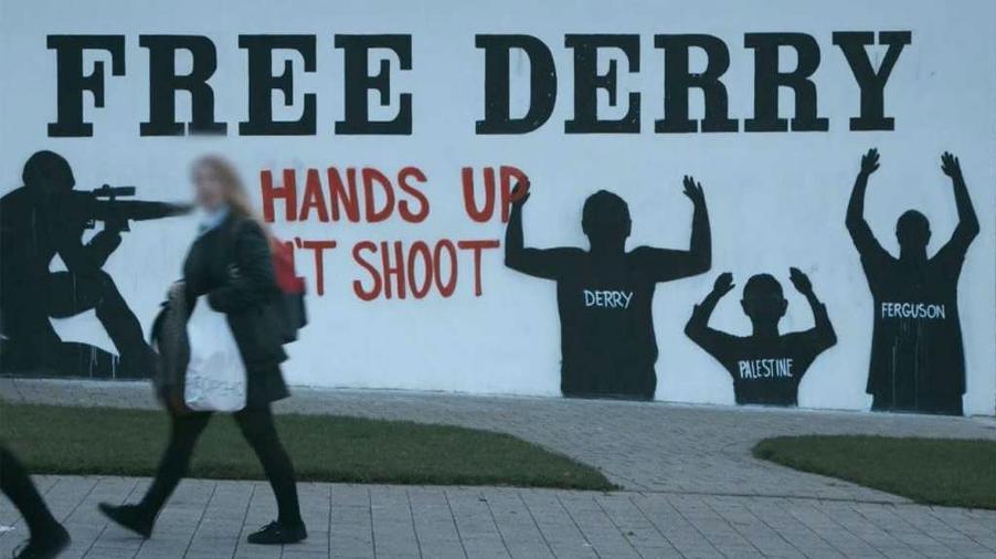 [Mural on Free Derry Corner, Autumn 2014]