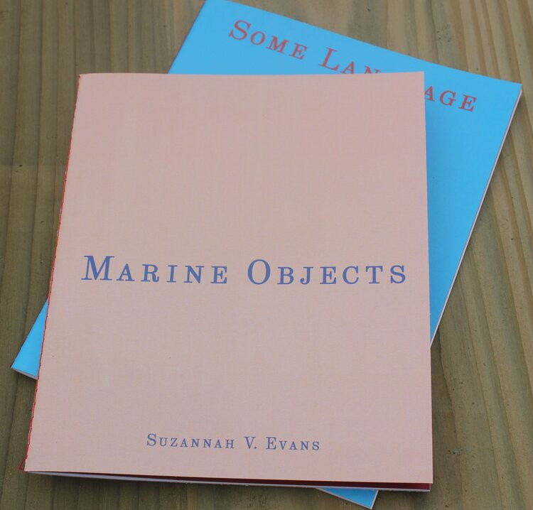 Book covers in peach/beige and aqua blue