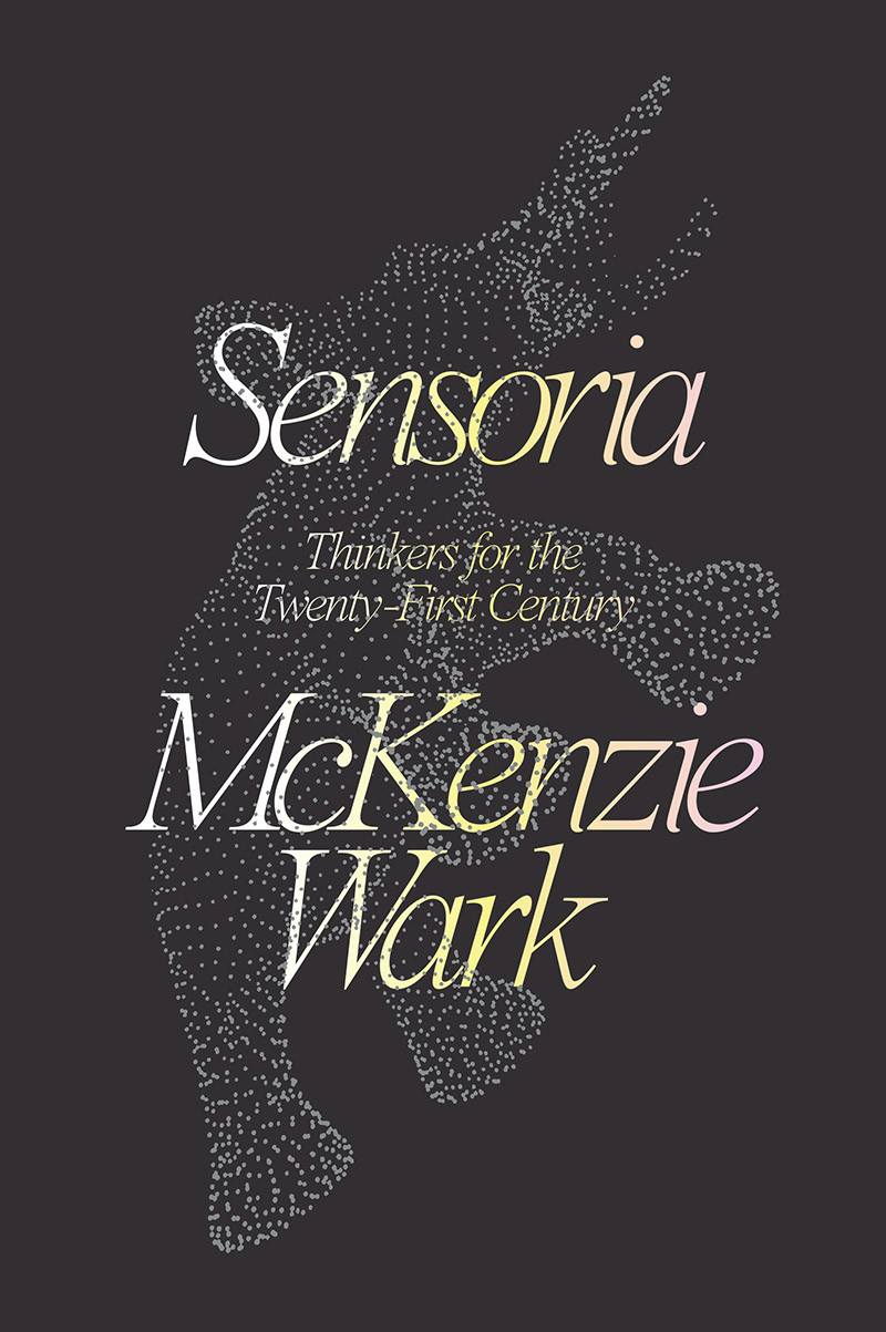Book Cover for Sensoria, dark background with animal made of constellating dots