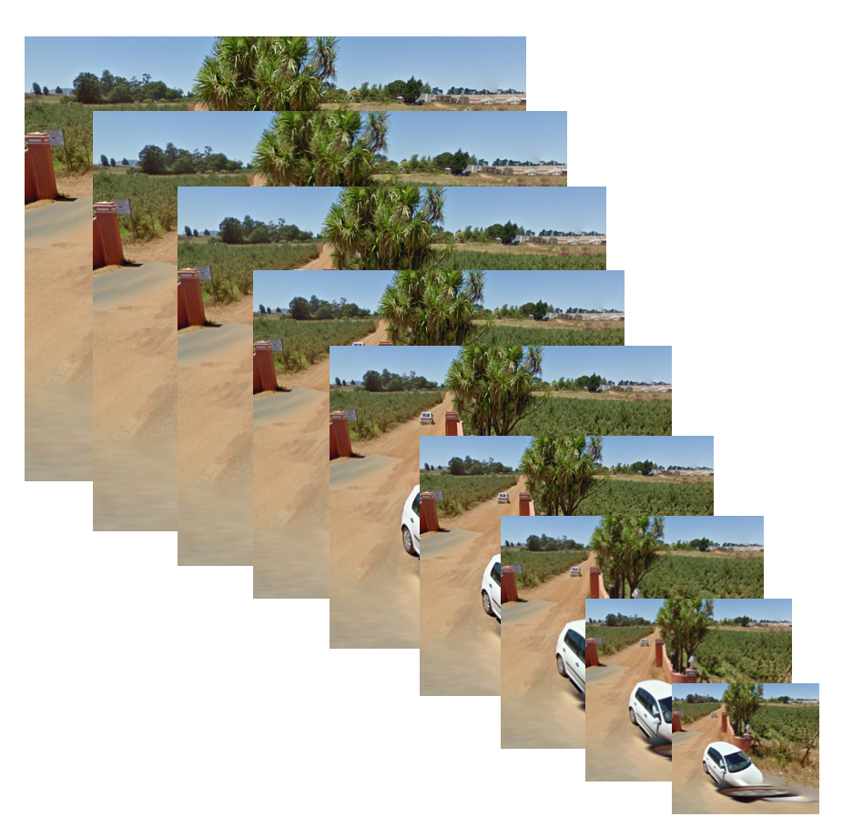Image cascade of a beach scene.