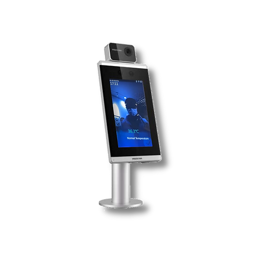 Terminal auto-vérification de température avec pied