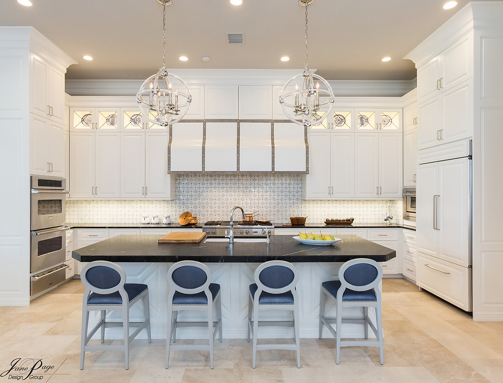 A White on White Kitchen for a New Construction Home