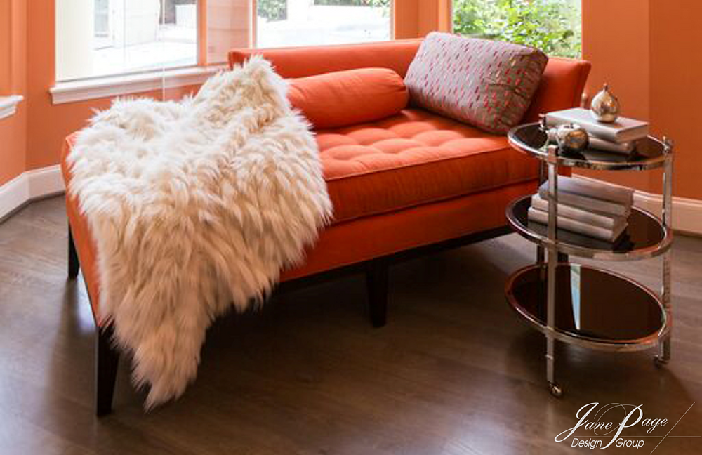 Colorful Chaise Lounge with Textured Accents