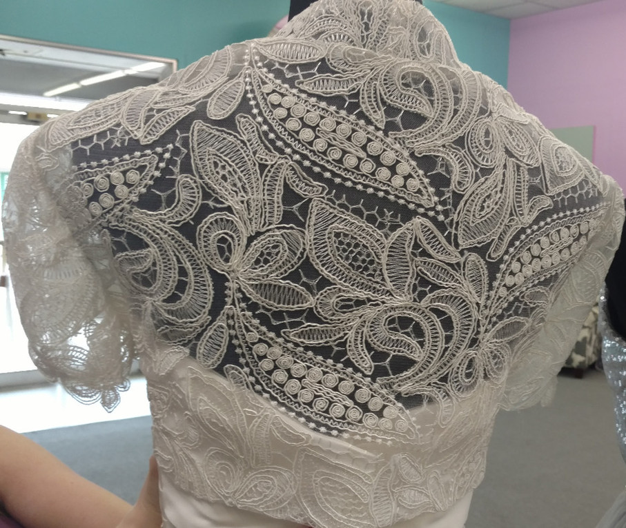 Custom bridal shrug - available in white or ivory.