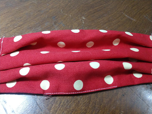 Red and Yellow Polka Dot face mask