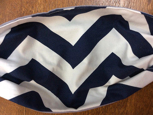 Navy and White Chevron