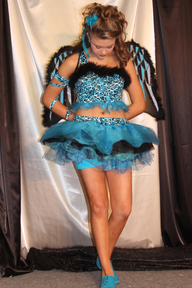 Custom pageant outfit of choice - her crown was amazing!