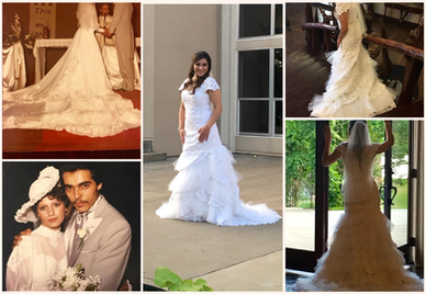 One of my favorites - we took Mom's dress, and made it into a daughter's dream wedding dress!
