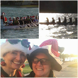 Christmas paddle - great night had by all. Despite the strong wind we hit the water and shared Chris