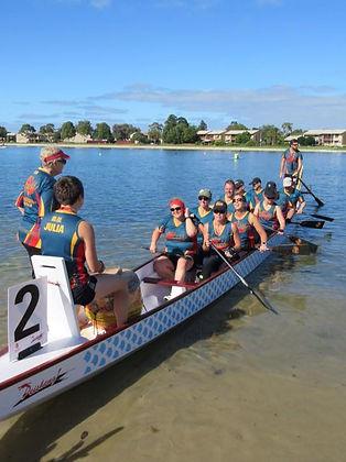 Adelaide Phoenix training on West Lakes, SA, AU.