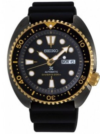 Seiko SRPD46J JDM Black Gold Turtle Prospex 200M Automatic MADE IN JAPAN