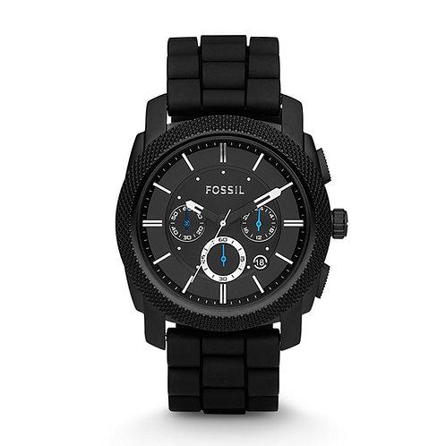 Fossil Men's FS4487 Black Silicone Bracelet Black Analog Dial