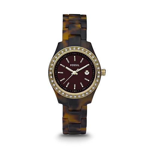 Fossil Women's ES2922 Stella Brown Dial Watch