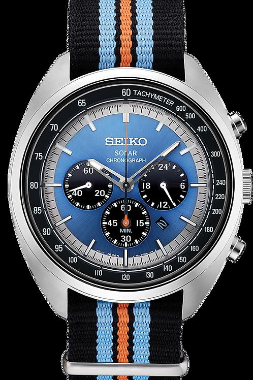 Seiko SSC667 Solar Recraft Chronograph Blue Dial Nylon Strap