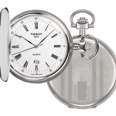 Tissot Men's T83.6.553.13 Savonnettes Pocket Watch