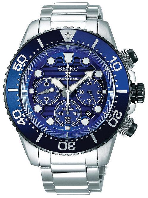 "Seiko Prospex ""Save The Ocean"" Solar Dive chronograph SSC675"