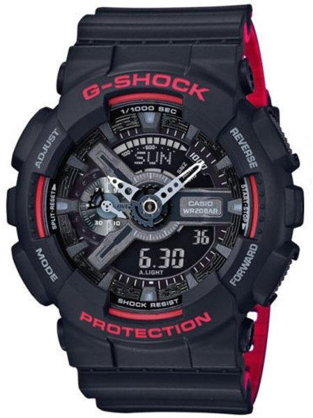 GA110HR-1A G-Shock 2-Tone Layer Black/Red Ana-Digital