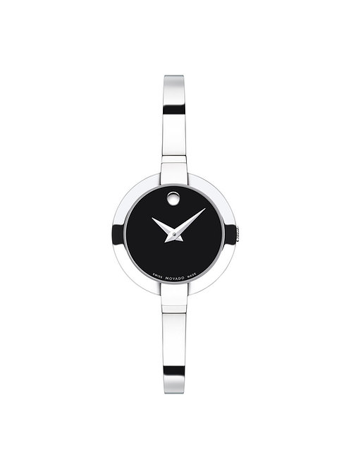 Movado | Bela Women's Stainless Steel Bangle Watch With Black Dial