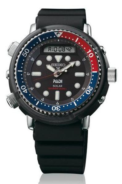 Seiko Prospex PADI Special Edition Solar Tuna Dive Watch Analog/Digital SNJ027