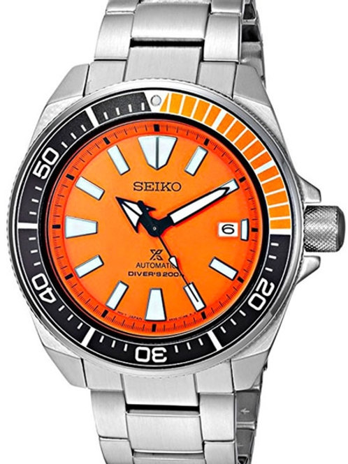 Seiko Prospex Samurai 200M Automatic S/S Orange Dial SRPC07