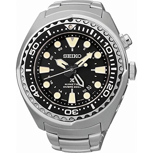 NEW Seiko Prospex Kinetic GMT Diver's SUN019