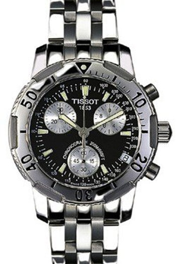 Tissot PRS200 Steel Chronograph Black Men's Watch T17.1.486.53