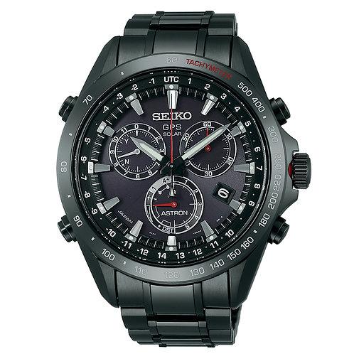 Seiko Astron Solar GPS Black PVD SS Black Dial Men's Watch SSE031