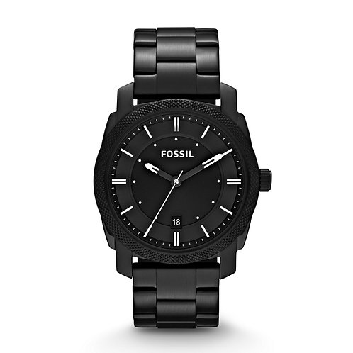Fossil Machine Black Dial Black-plated Men's Watch FS4775