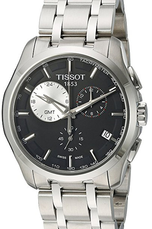 Tissot Men's T035.439.11.051.00 Dial Couturier Black Dial Watch
