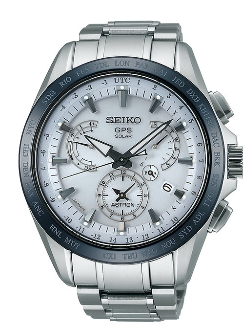 Seiko Astron Watch GPS Solar Dual Time Titanium SSE047