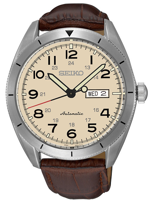 Seiko Men's SRP713 Sport Stainless Steel Leather