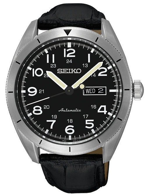Seiko Men's SRP715 Sport Stainless Steel Leather