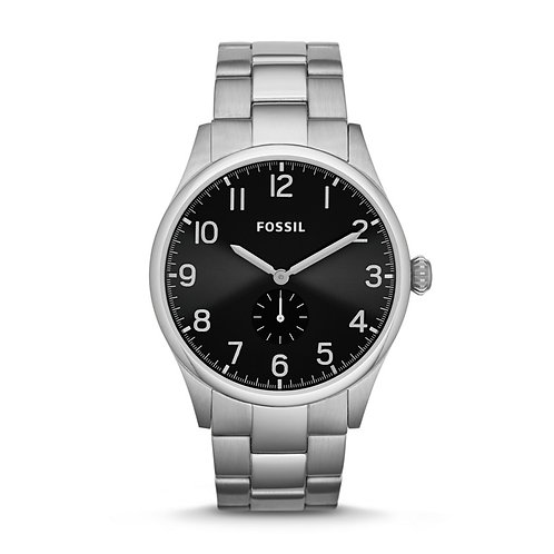 Fossil The Agent Black Dial Stainless Steel Men's Watch FS4852