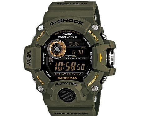 CASIO RANGEMAN G-Shock GW9400-3 GW-9400-3 Solar Multiband 6 Triple Sensor