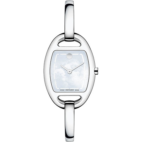 Movado Museum Mother of Pearl Dial Stainless Steel Bangle Ladies 0606606