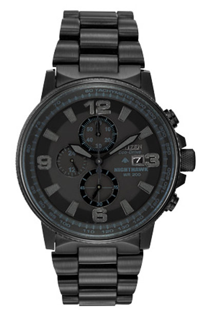 Men's Eco-Drive Nighthawk Watch Black CA0295-58E
