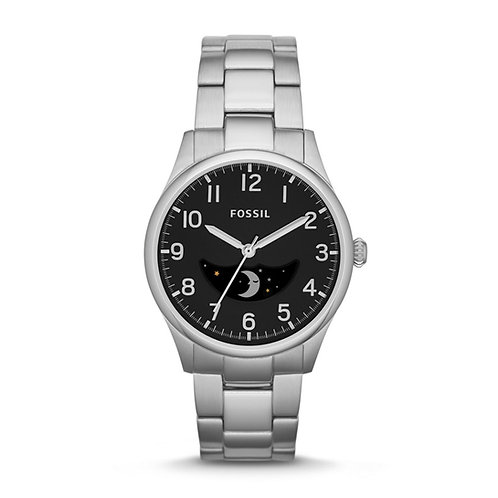 Fossil Agent Black Dial Stainless Steel Bracelet Men's Watch FS4848