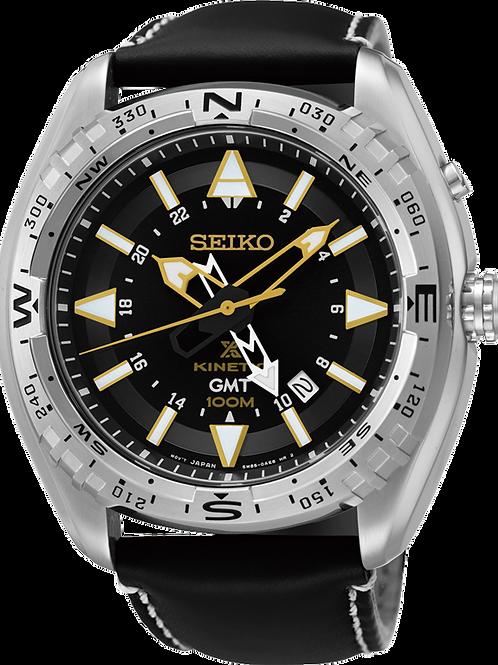 Seiko Prospex GMT Kinetic Black Dial Men's Watch SUN053