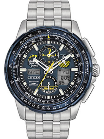 Citizen JY8058-50L Men's Eco Drive Stainless Steel Blue Angels