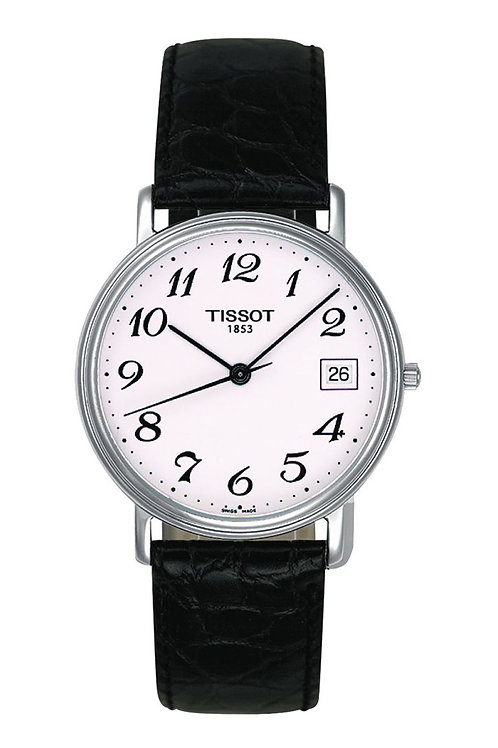 Tissot T-Classic White Dial Black Leather Men's Watch T52.1.421.12