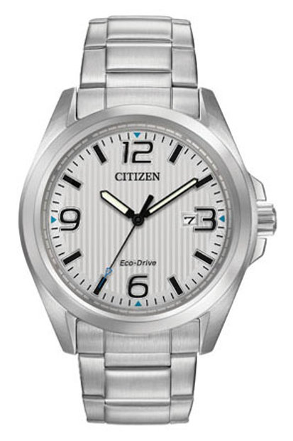 Citizen Eco-Drive® Watch with Silver Dial  AW1430-86A
