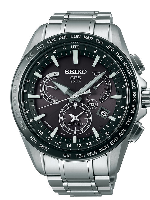 NEW Seiko Astron SSE077 GPS Solar Dual time MADE IN JAPAN
